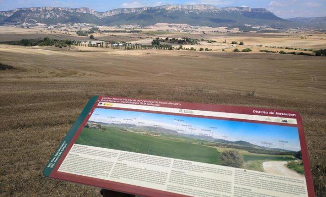 Metauten desde la vía verde Vasco Navarro