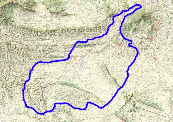 Mapa del recorrido 265BTT