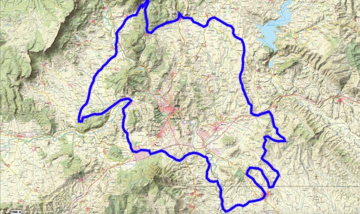 Mapa del recorrido 267BTT