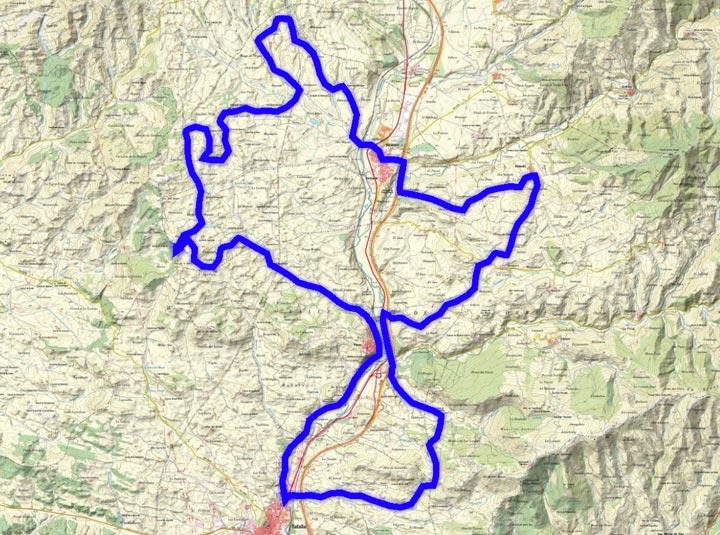 Mapa de lrecorrido 287BTT