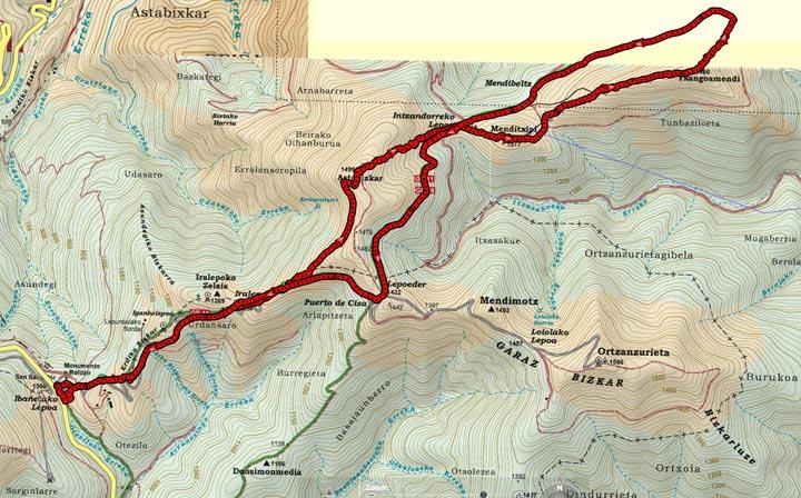 Mapa del recorrido 860