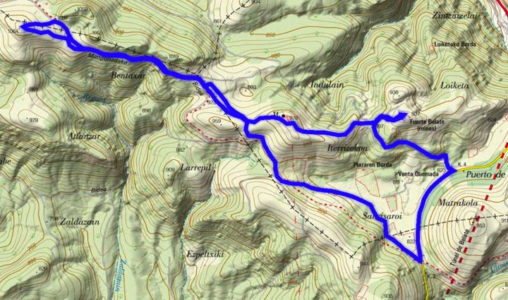 Mapa del recorrido 871