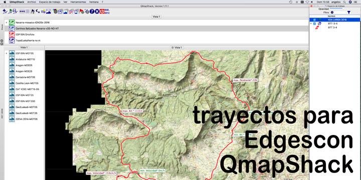 Crear trayectos en QMapShack