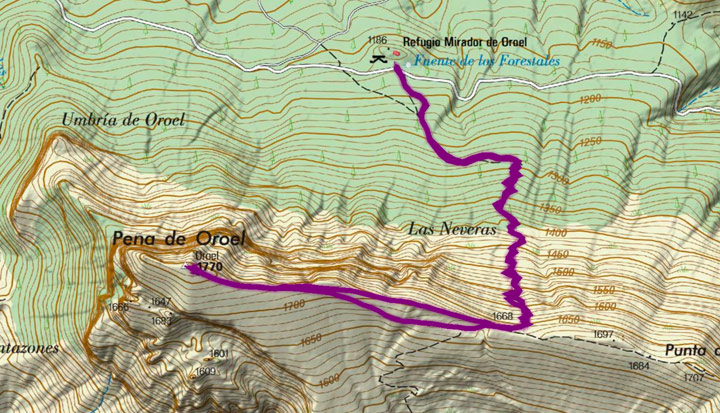 Mapa del recorrido 877