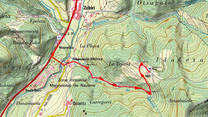 Mapa del recorrido 931