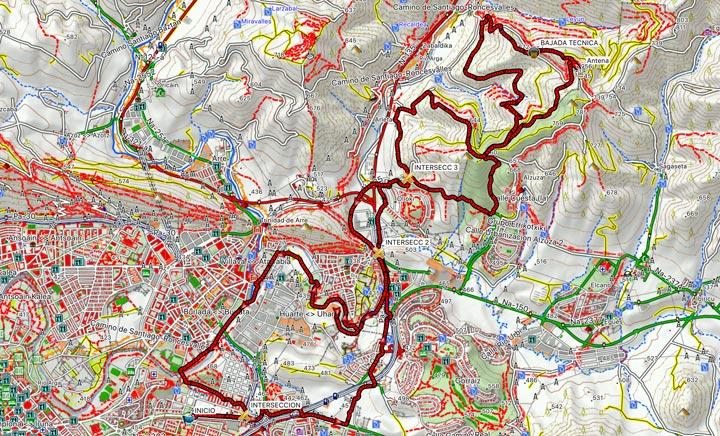 Mapa del recorrido 356BTT