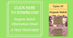 Types of organic mulch info sheet