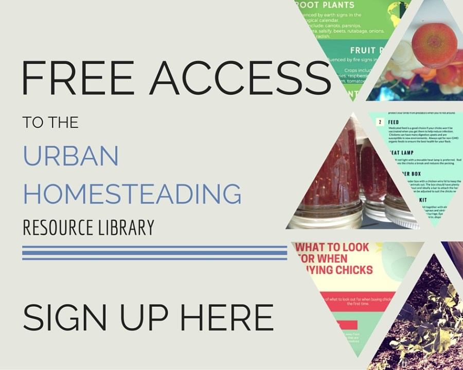 Free access to the urban homesteading resource library