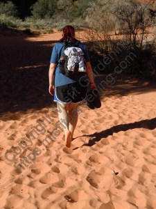 The bare-foot hippie hiker (Snow Canyon State Park, Utah)