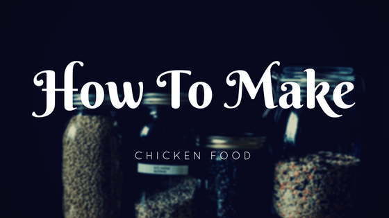 how to make chicken food how to make chicken scratch
