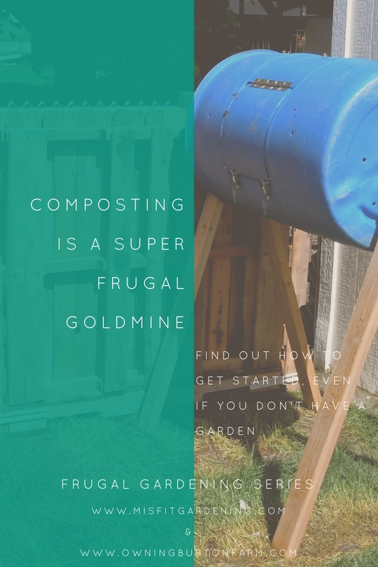 Composting is a frugal gardener's goldmine. Click to find out how to get started composting or pin it for later.