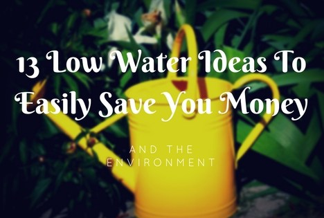 13 Low Water Ideas To Easily Save You Money And The Environment
