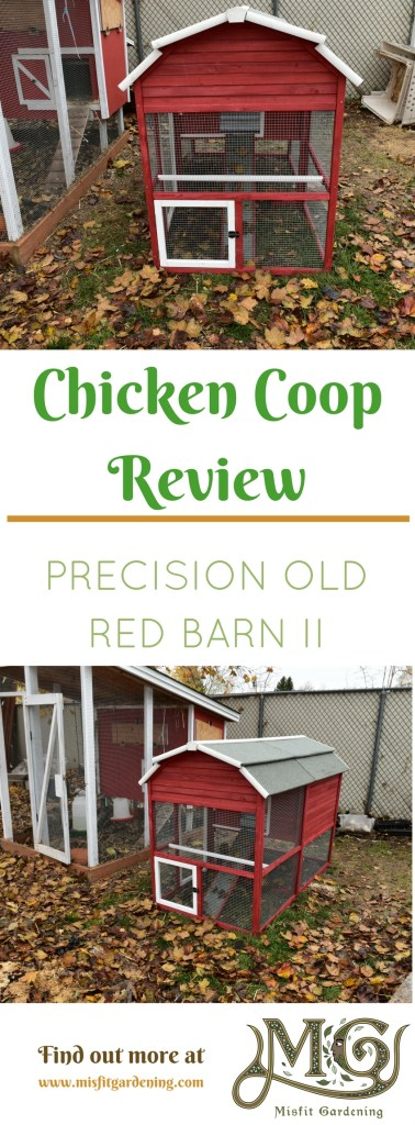 Review of the Precision Old Red Barn II chicken coop. Click to find out about this chicken coop or pin it and save it for later