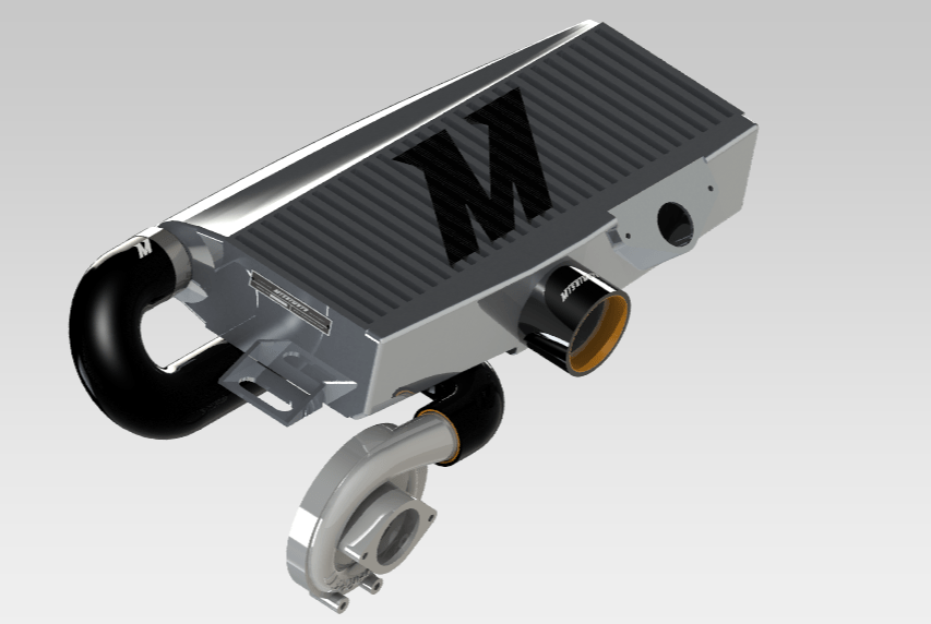 Mishimoto intercooler rendering