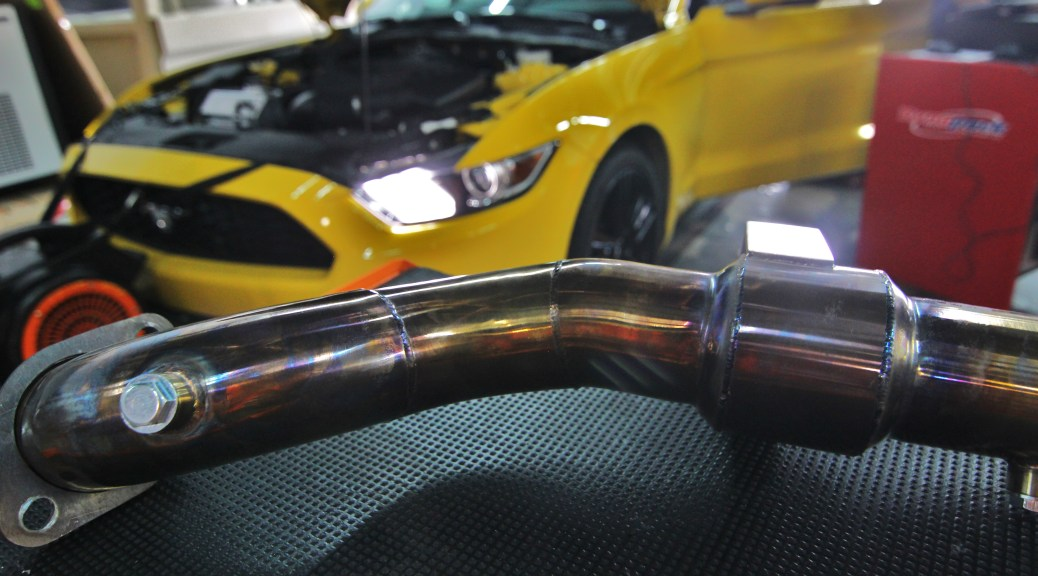 Mishimoto 2015 Mustang EcoBoost downpipe after dyno runs