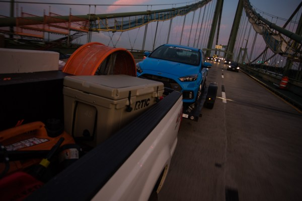 The early morning haul over the Delaware Memorial Bridge into Jersey.