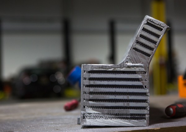 For the best cut-away look at a bar-and-plate core, we literally cut away one of our BMW F30 intercoolers. The robust fins and thick bars efficiently whisk away the heat from the charged air.