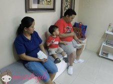 Yaya, Taglet, and Jeff in the reception area.