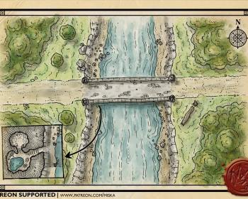 Two bridges battle map