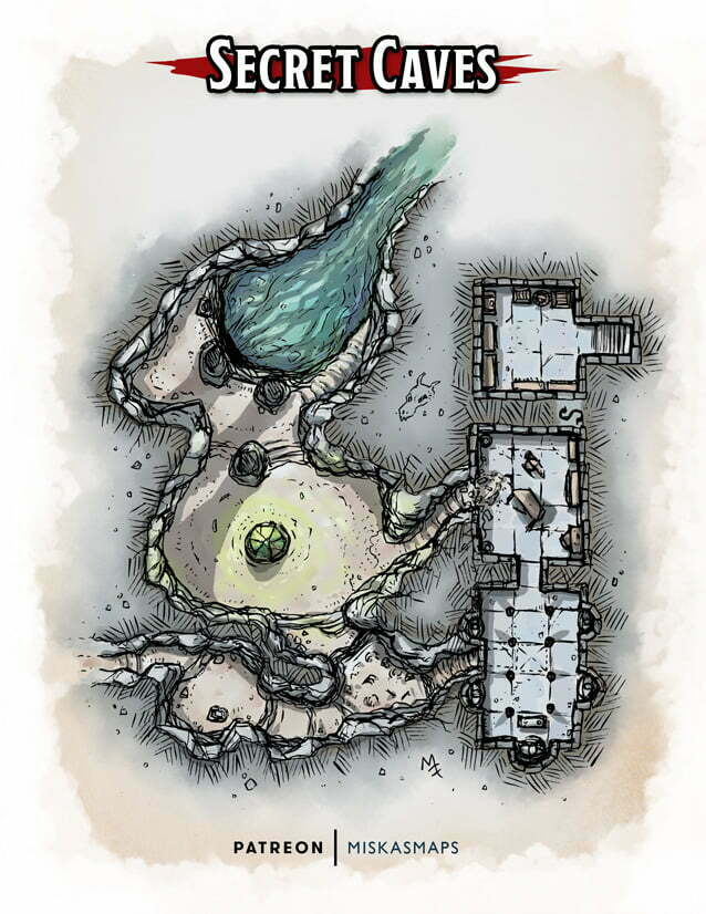 Secret caves dungeon map