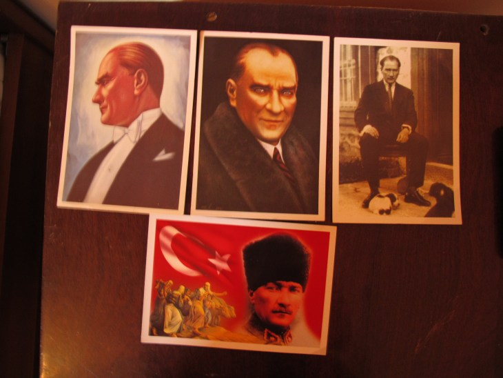 Ataturk postcards I picked up in North Eastern Turkey