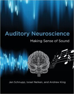 Auditory Neuroscience: Making Sense of Sound (MIT Press) by Jan Schnupp, Israel Nelken, and Andrew J. King This is not an easy read and we truly need a version of this that we can all understand. However, for the time being and/or for those of you who have the background and/or are up to it, here is the text on auditory neuroscience.