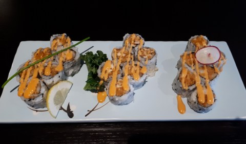 Spicy Mayo Butterfish, Albacore Tuna and Scallop Rolls
