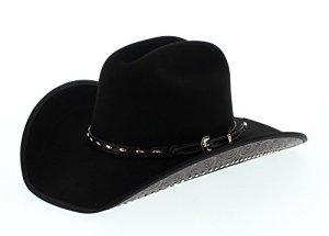 Dallas Hats – Chapeau western – Femme noir noir – noir – L (58-59 cm)