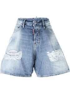 Dsquared2 Femme S72mu0210s30309470 Bleu Coton Shorts