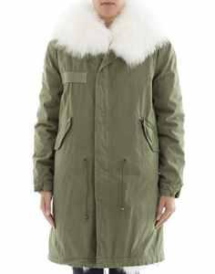 Mr&Mrs Italy Femme Pk036sxpaf0x1000 Vert Coton Manteau
