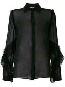 Roberto Cavalli Femme Fwt704gg00105051 Noir Soie Blouse
