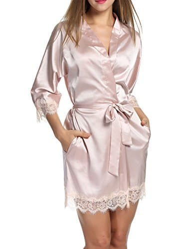 Femme Kimono Nuit Chambre De Hotouch Pyjama Vêtement Robe Courte P0nwko 8Nn0mw