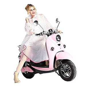 K-way Femme Poncho-pluie Capuche Imperméable Vêtement de pluie Transparent – Très Chic Mailanda (Rose)