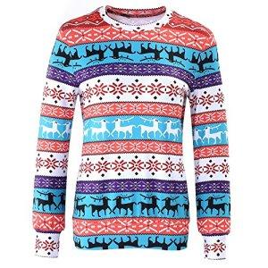 Sfit Femme Vest Hoodie Pull Sweat à Manches Lonuges Style de Noël Casual