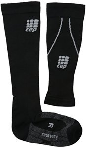 CEP Run + Recovery Compression Chaussettes de sport Combo Pack, femme, Wp41x, noir, Size IV (Calf 15.5-17.5-Inch)