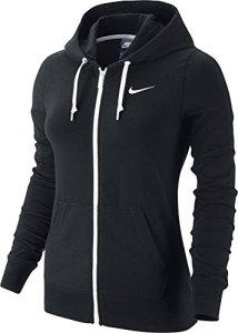 Nike Sportswear Jersey FZ Veste à capuche Femme Noir/Blanc/Blanc FR : L (Taille Fabricant : L)