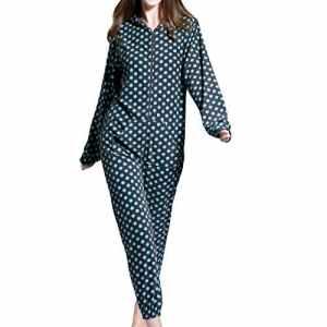 Grenouillères Femme Combinaison Pyjama à capuche en polaire Onesies Airee Fairee (EU 40-42, Modèle gris tacheté)