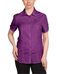Jack wolfskin beyond t-shirt w chemisier pour femme XS Violet – Hyacinth