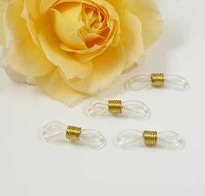 Lunettes Chaînes Support Transparent-Or, 24 x 7 mm, 2 paires (Lot de 4) – Lunettes de lunettes