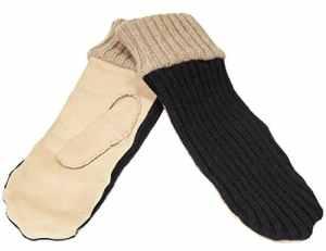 Merola Gloves Cash Mitten, Mitaine Femme, Multicolore (Bone/Black), Small