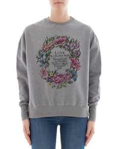 Alexander Mcqueen Femme 507094Qkz120902 Gris Coton Sweatshirt