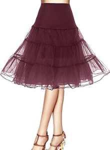 Bbonlinedress Jupon femme style année 50 Jupon Rockabilly 4 tailles à choisir Burgundy XL