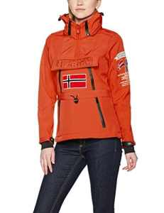 Geographical Norway Tulbeuse Lady 005, Veste Sweat Femme, Corail, XX-Large