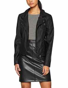 ONLY Onlsteady Faux Leather Biker Cc Otw, Blouson Femme, Noir (Black), Small