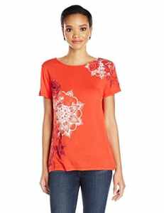 Desigual TS_MASI, T-Shirt Femme, Rouge (Rojo Country 3075), Large