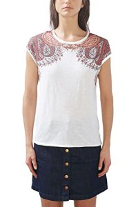 Esprit 027ee1k014, T-Shirt Femme, Multicolore (Off White), 42 (Taille Fabricant: X-Large)