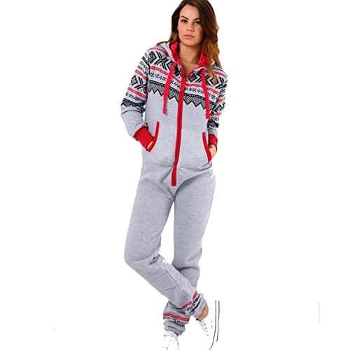 Trends Fashions – Grenouillère – Manches Longues – Femme * – gris – L