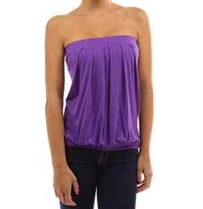 Westeng Femmes Bustier bandeau Casual Vest Shirt Eté Sans Bretelles Tee-shirt pour plage ou quotidien – 1pcs