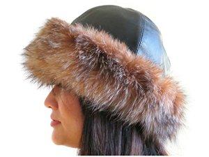 Cuffed Fox cristal Chapeau avec cuir noir Couronne 2XL