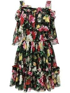 Dolce E Gabbana Femme F68l5ths1rshnm62 Noir Soie Robe